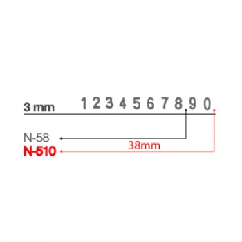 Numbering Stamp N510 - 3mm