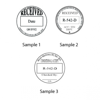 Shiny Round Self Inking Stamp R542 Dater Rubber Stamp